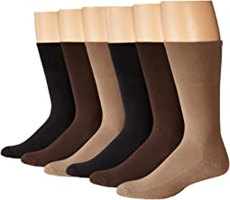 Cushion Mercerized Cotton Sock 6-Pack