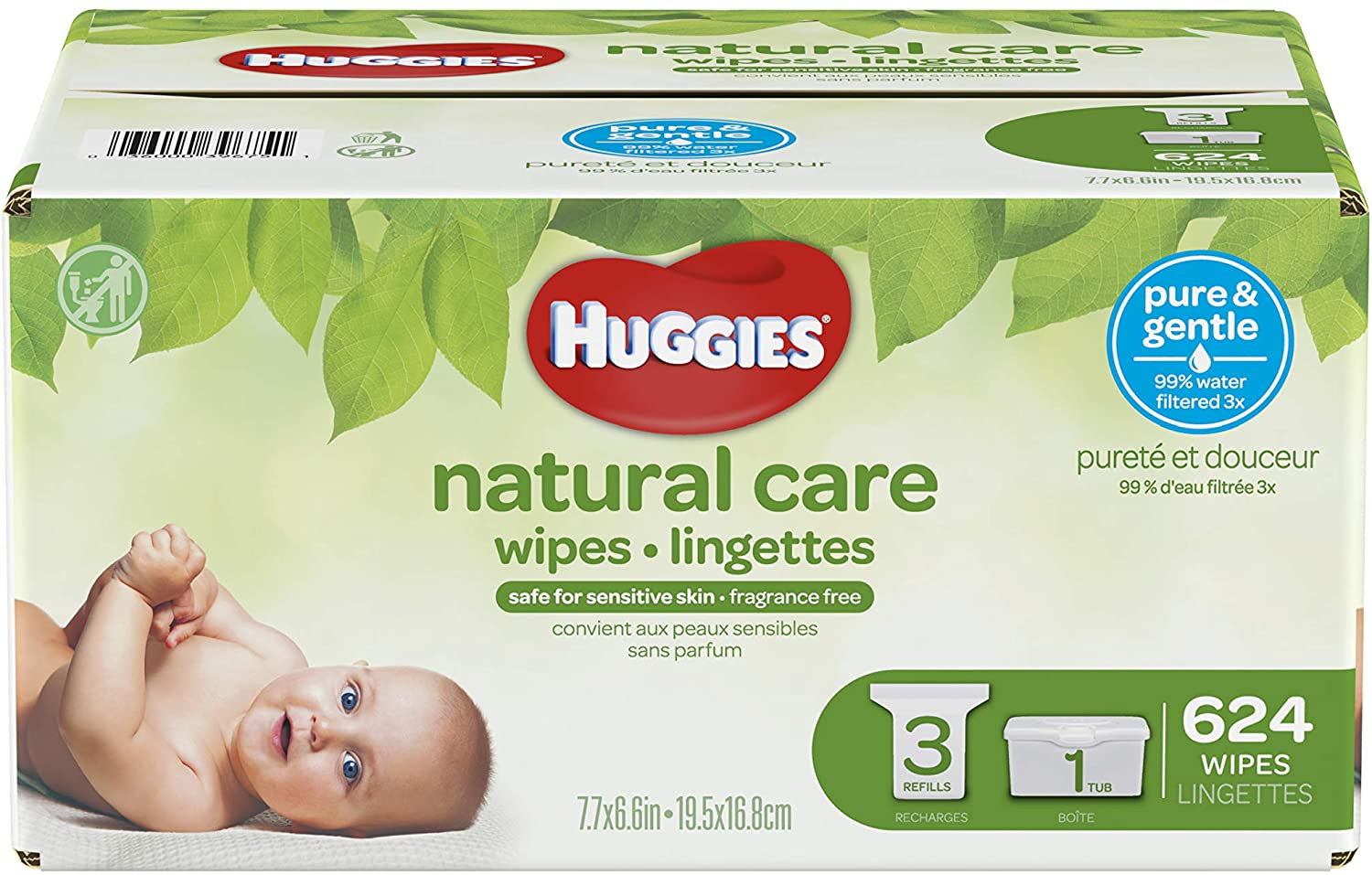 HUGGIES Natural Care Unscented Mail order cheap Baby Sensitive 3 Refill Great interest Wipes P