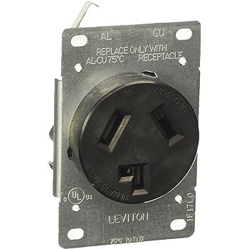 Leviton  30 amps 125 volt Black  Outlet  14-30R  1 pk