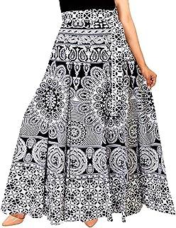 Rangun Women's Regular Printed Cotton Long Skirt