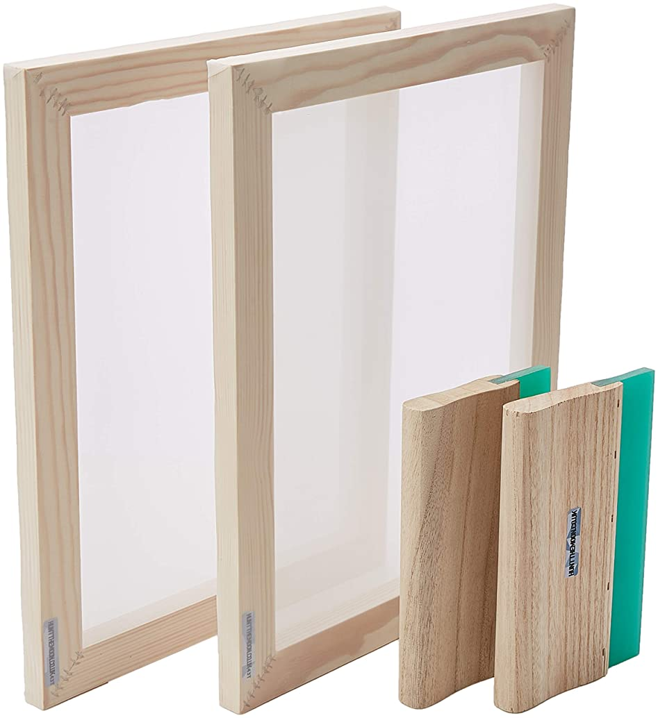 Hunt The Moon Screen Printing Frame and Squeegee Kit, Wooden, Medium A4 43t