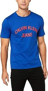 CALVIN KLEIN Jeans Men's Institutional Curved Varsity T-Shirt