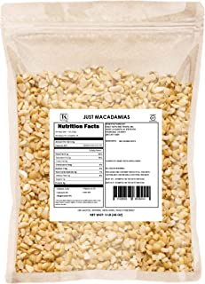 Just Macadamia Nuts (Raw, Non-GMO Project Verified, Certified Gluten Free, Healthy Fat, Wholesale Price)… (Small Pieces, 48 Ounce)