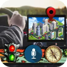 Car GPS Voice Guide: Speed-o-Meter, Street View, Compass Voice Turn-by-Turn Directions & Traffic Warning, Driving Alarm, Lifetime Map Update