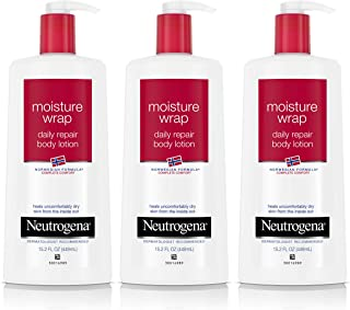 Neutrogena Norwegian Formula Moisture Wrap Body Lotion 15.20 oz (Pack of 3)