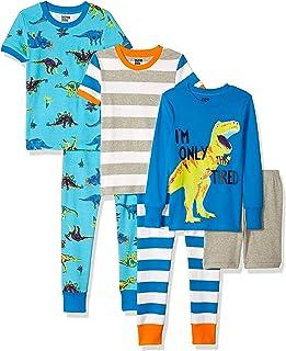 2pc Keren Pjs Kids Boys Girls Short Sleeves Pagama Set Sleepwear Top Pants