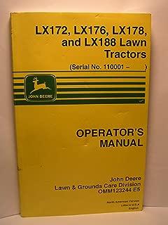 John Deere Operator's Manual LX172, LX176, LX178, and LX188 Lawn Tractors Serial No. 110001-) OMM12324414