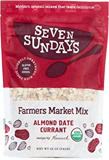 Seven Sundays Organic Farmers Market Muesli {12 Oz, 1Count} | Certified Organic | Gluten Free Certified | No Added Sugar |...