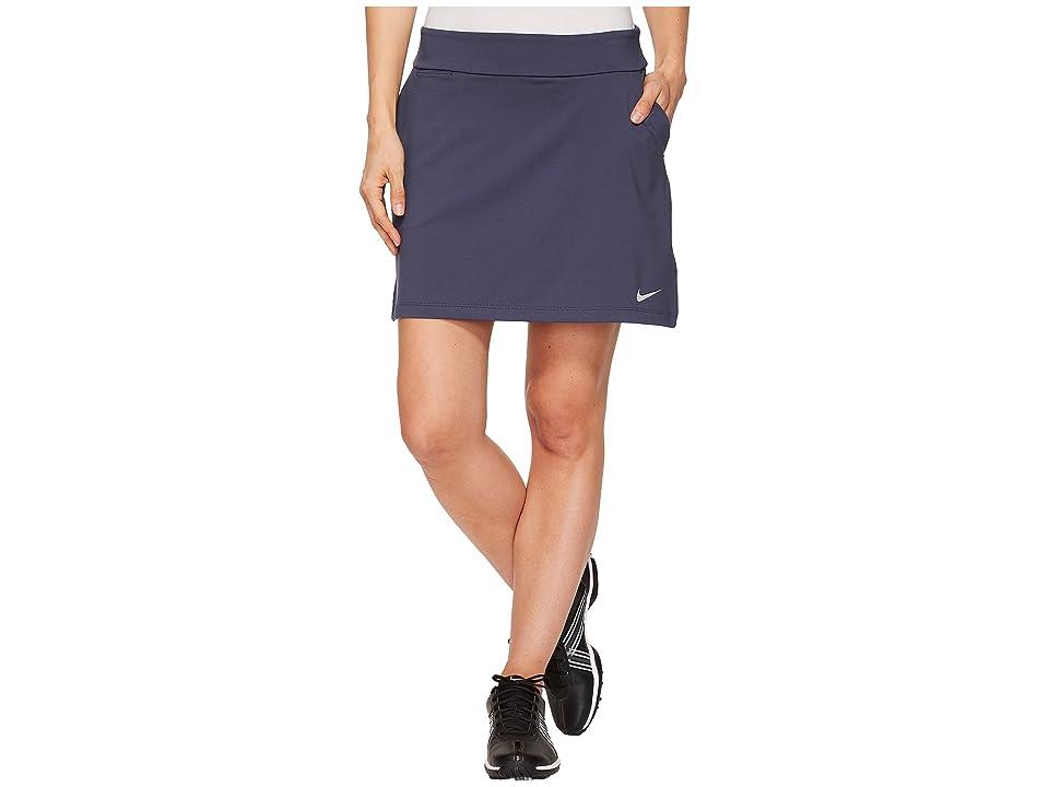 Nike Golf Dry Skort Knit 16.5 (Thunder Blue/Flat Silver) Women