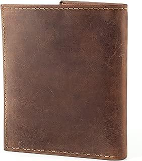 RFID Blocking Mens Leather Bi-Fold Big Hipster Wallet, 13 credit card slots