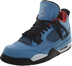 Jordan Air 4 Retro Travis Scott Cactus Jack Men's Shoes University Blue/Black 308497-406 (14 D(M) US)