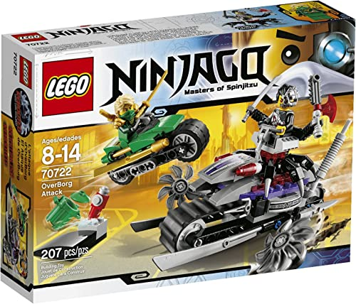 marcas de diseñadores baratos LEGO Ninjago El Ataque de OverBorg - Juegos Juegos Juegos de construcción, 8 año(s), 207 Pieza(s), 14 año(s)  artículos novedosos