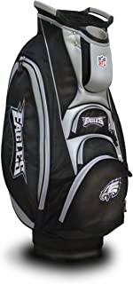 Team Golf NFL Victory Golf Cart Bag, 10-way Top with Integrated Dual Handle & External Putter Well, Cooler Pocket, Padded Strap, Umbrella Holder & Removable Rain Hood