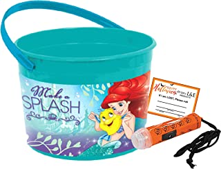 The Little Mermaid Ariel Toddler Sized Halloween Trick or Treat Bucket & Mini Safety Flashlight! Plus