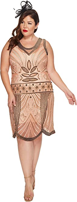 Unique Vintage - Plus Size Caspian Flapper Dress