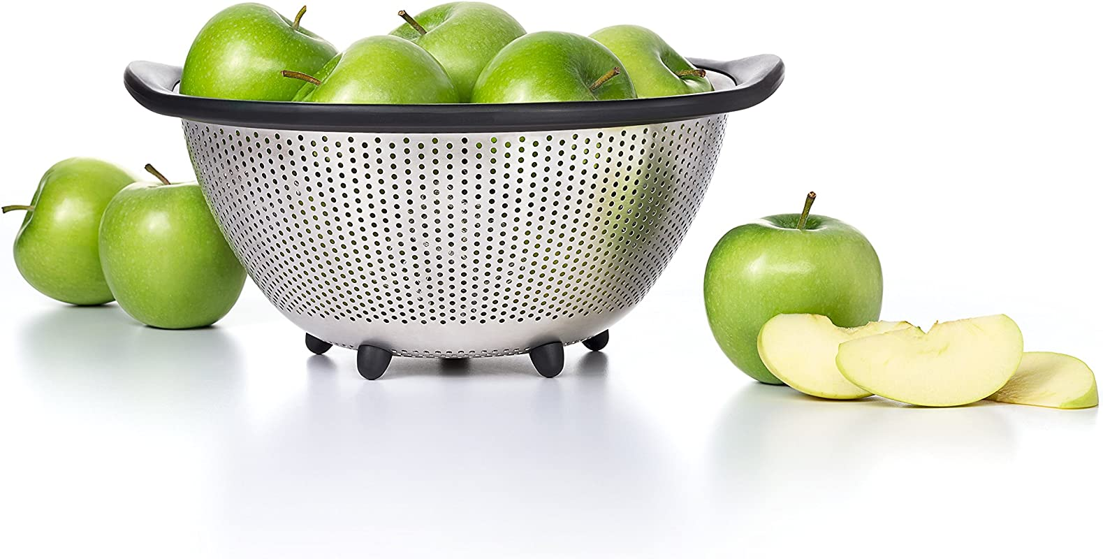 OXO 1134700 Good Grips 5 Quart Stainless Steel Colander Silver