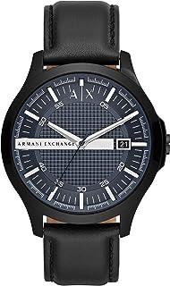 Armani Exchange Men's Three-Hand Date Black-Tone Stainless Steel Watch AX2411