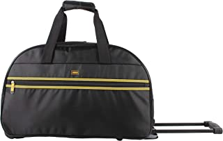 Lucas Luggage 22 Inch Printed Rolling Carry-On Suitcase Wheeled Duffel (22in, Collegiate)