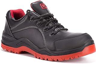 Black Hammer Safety Waterproof Steel Toe Shoes Men Work Sneakers Lightweight Industrial & Construction Shoe 7007
