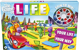 The Game of Life Game, Family Board Game for 2 to 4 Players, for Kids Ages 8 and Up, Includes Colourful Pegs
