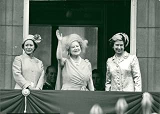 Vintage photo of Queen Elizabeth the Queen Mother39;s Birthday celebration