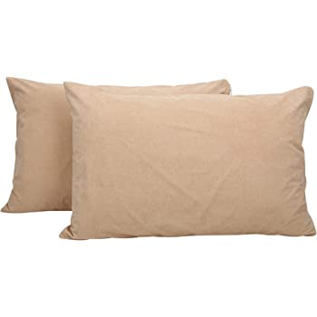Healing Crystals India Cotton Terry Waterproof Pillow Protector, 18 x 28 inches (Beige, 2)
