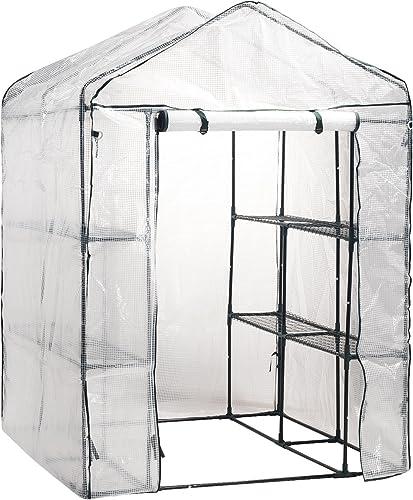 Gartenfreude Láminas para Invernadero Marca Incluye 8 estantes de 140 x 140 x 200 cm (An x Prof x al)
