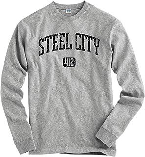 Smash Transit Men`s Steel City 412 Pittsburgh Long Sleeve T-Shirt