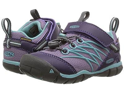 Keen Kids Chandler CNX WP (Toddler/Little Kid) (Montana Grape/Aqua Haze) Girls Shoes