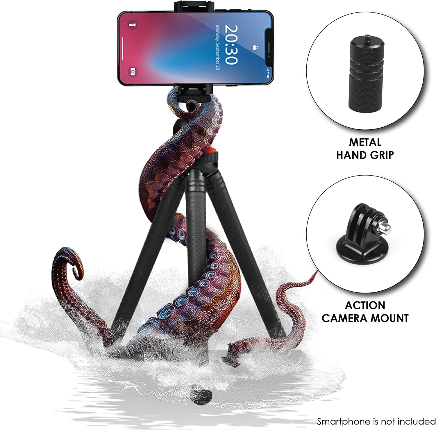 """12"""" Flexible Mini Popular popular Miami Mall Tripod with Universal to Phone Holder up"""