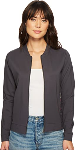 Ponte Knit Bomber Jacket