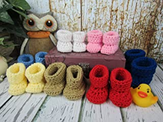 Baby Booties, Newborn to 9 Months, Pick Your Color