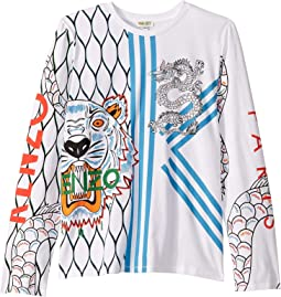 02616e01a19e Tiger Long Sleeve T-Shirt (Toddler/Little Kids). $62.10. Luxury. Optic White