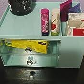 mDesign Cajonera para oficina – Organizador de escritorio de plástico con 5 secciones de almacenaje – Prácticos muebles para oficina para mantener en ...