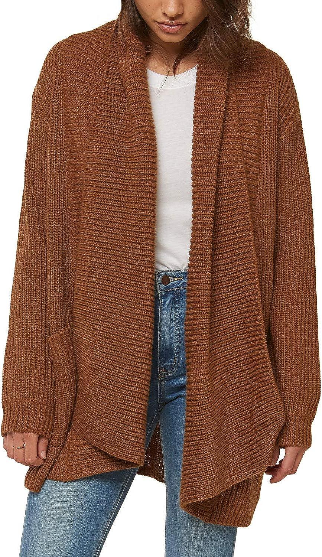 O'NEILL Women's Open Front Long Sleeve Cardigan Sweater