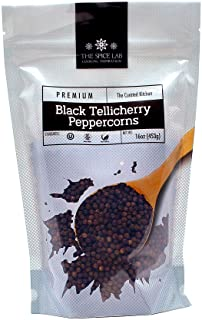 The Spice Lab Peppercorns –Tellicherry Whole Black Peppercorns for Grinder Refill..