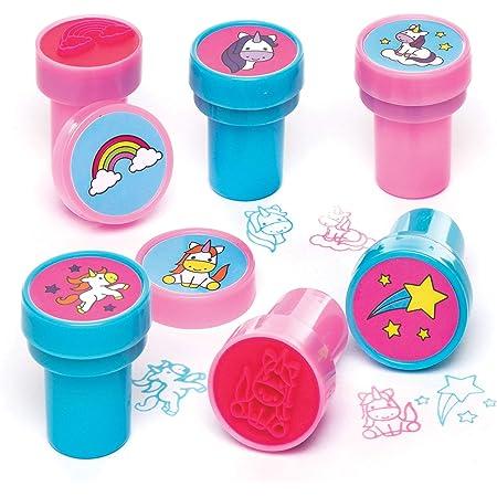 Baker Ross Tampons licornes avec encre intégrée que les enfants pourront utiliser pour décorer leurs projets de loisirs créatifs (Lot de 10)