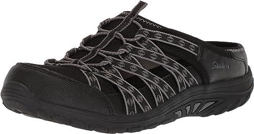 Skechers Wohombres Reggae Fest-Marlin-Fisherman Open Back Mule Relaxed Fit & A C Memory Foam Water zapatos, negro, 5.5 W US