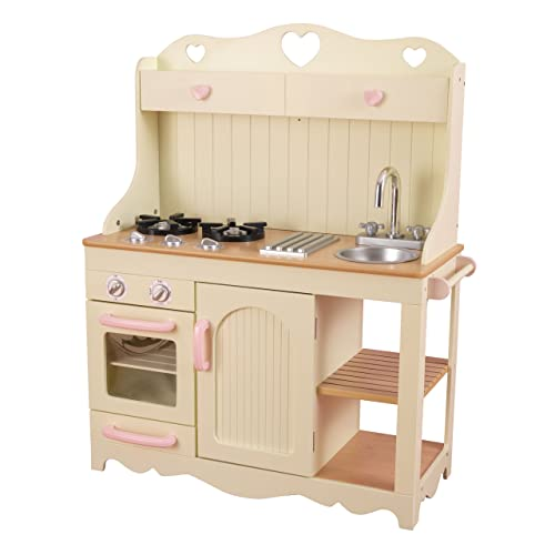 354d1b98099a KidKraft 53151 Prairie Wooden Pretend Play Toy Kitchen for Kids