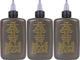 3 Pack - LSA Weapons Oil US Made Genuine GI Army Military Gun Rifle Pistol Firearm Lubricant Protectant 4 oz.