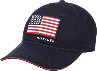 Tommy Hilfiger Men's Star and Stripes Baseball Cap, Sky Captain, One Size