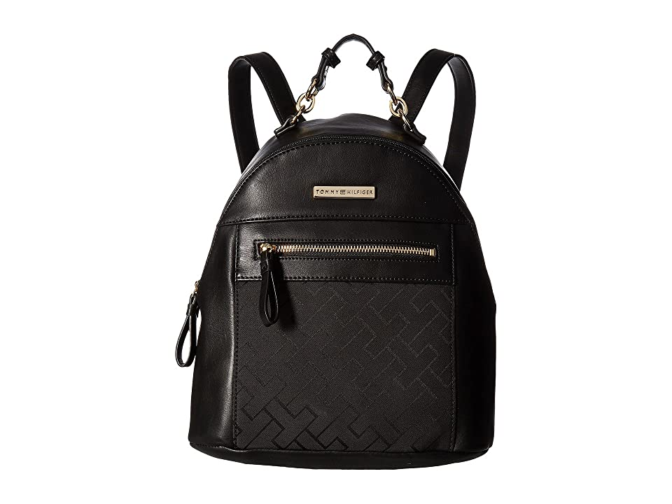 Tommy Hilfiger Claudia Dome Backpack (Black Tonal) Backpack Bags