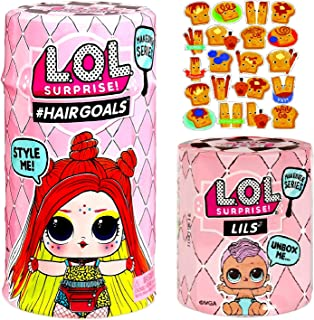 MGA LOL Surprise #Hairgoals and Lils Makeover Series 5 Wave 2 Bundle W/ Cinnamon Stickers
