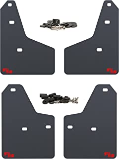 RokBlokz Mud Flaps for 2012+ Ford Focus - Multiple Colors Available - Set of 4 - Fits All MK3 Models - Includes All Hardware and Detailed Instructions (Black with Red Logo, Shortz)