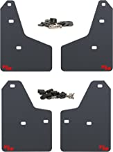 RokBlokz Mud Flaps for 2012+ Ford Focus - Multiple Colors Available - Set of 4 - Fits All MK3 Models - Includes All Hardware and Detailed Instructions (Black with Red Logo, Originalz)