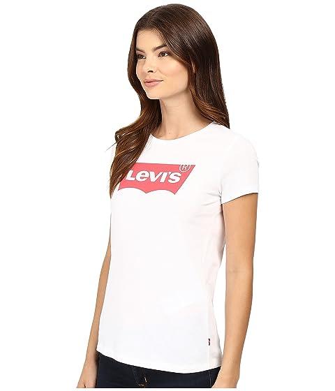 blanco Womens Batwing camiseta redondo Levi's® Cuello Slim Core p1qxAwH