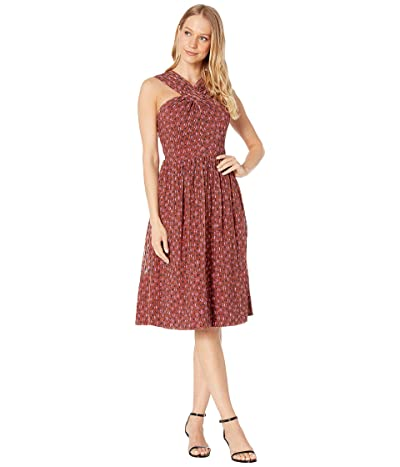 Kate Spade New York Floral Doodle Halter Dress (Warm Caramel) Women