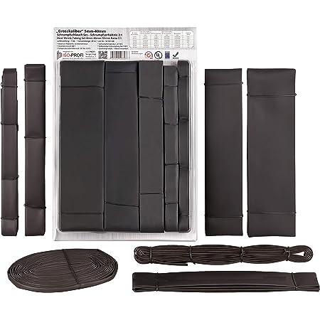Durchmesser und L/ängen von ISOLATECH hier Schrumpfschlauch 2:1 schwarz vers /Ø15mm-2m