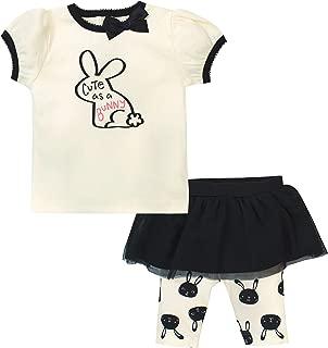 Gerber 女童幼童衬衫和短裙七分裤套装
