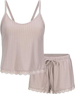 Women's Ribbed Meet and Greet Cami and Short Pajama Set